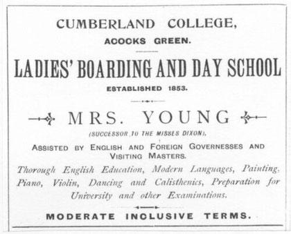 Cumberland college advert