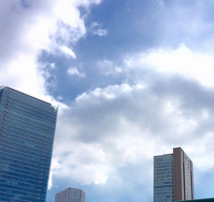 2月の大阪 晴れているけど風は冷たい