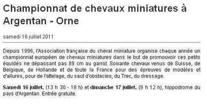 Ouest France, le 16 juillet 2011