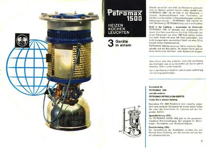 Aus dem Petromax-Prospekt der 60er Jahre (Anklicken zum Vergrössern)