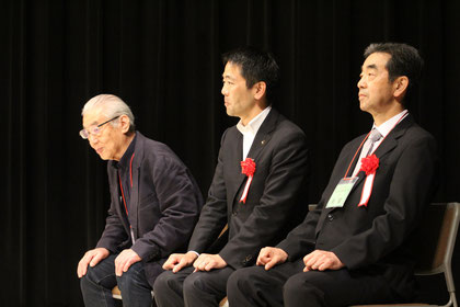 横川子ども大学かまくら副理事、松尾鎌倉市長、安良岡鎌倉市教育長