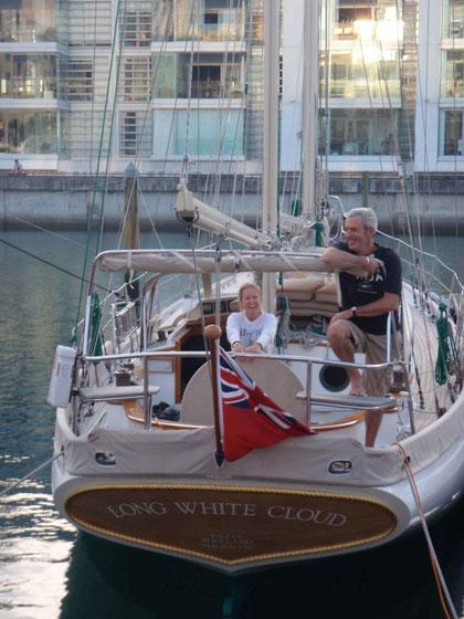 Paula & Steve sur leur beau bateau