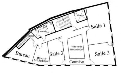 Plan de la Maison des Écritures Lombez Midi-Pyrénées
