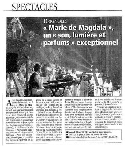Concert St Sauveur Brignoles en 2005