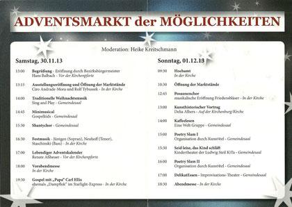 Programm - 30.11. und 1.12.2013