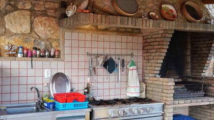 Aussenküche für alle Gäste