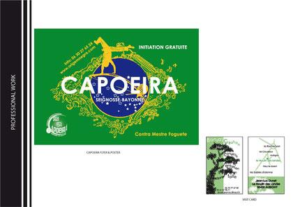 affiche pour une association de capoeira - carte de visite d'un spécialiste de bonsaï