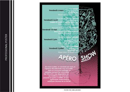 création d'affiche pour une association de viticulteurs
