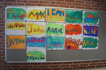 Erste Ergebnisse der Kunst/Werken-AG; Graffiti
