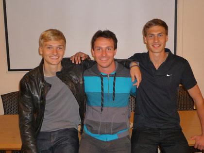 Sebastian Barth, Deutscher Jugend-Vizemeister 110m-Hürden (li.), Tobias Giehl, Deutscher Vizemeister 400m-Hürden (re.)