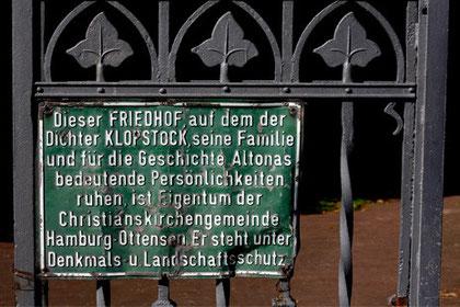 Schmiedeeisernes Eingangstor, Ottenser Kirchhof, Hamburg