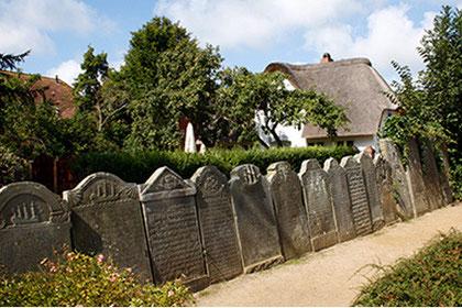 Impression, Friedhof Nebel auf Amrum