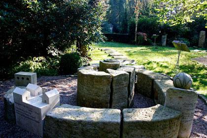 Erinnerungsspirale, Parkfriedhof Ohlsdorf, Hamburg