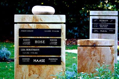 Erinnerungsstelen, Parkfriedhof Ohlsdorf, Hamburg