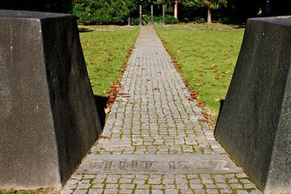 Erinnerungsmal an die Flut 1962, Parkfriedhof Ohlsdorf, Hamburg