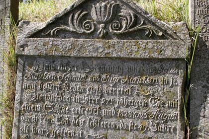 lassische Grablegung im 19. Jahrhundert, Friedhof Nebel, Amrum