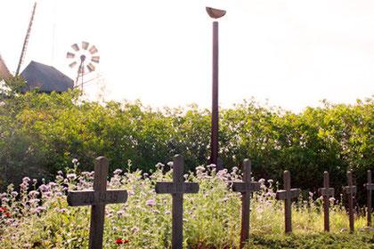 Holzkreuze, Friedhof der Heimatlosen auf Amrum