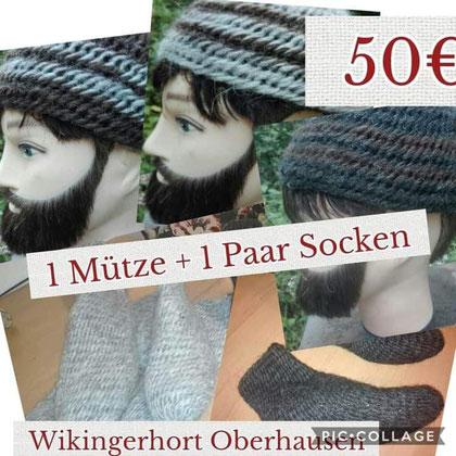 Angebot Mützen mit Socken ( Gr. 39_41) schaffarben