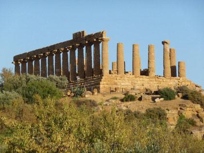Tempel im Vallee di Templi bei Agrigento