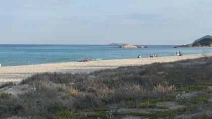 Strand vor dem CP Capo Ferrato