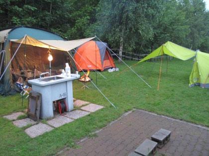 サイトがとても広く、のびのびとキャンプを楽しめます