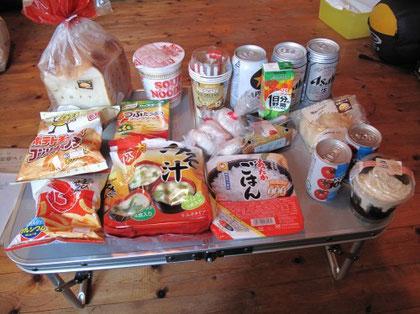 17:41 買い出した食べ物 徹夜で走った為 自分で作る気力は無し
