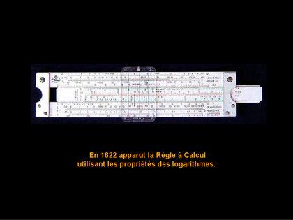 1622 erschien das erste Rechenlineal das die Eigenschaften der Logarithmen nutzte