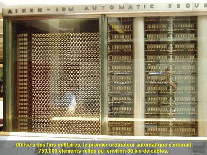 Der 1. automatische Computer. Er Umfasste 750.000 Elemente und wahren mit um die 80km Kabel verbunden