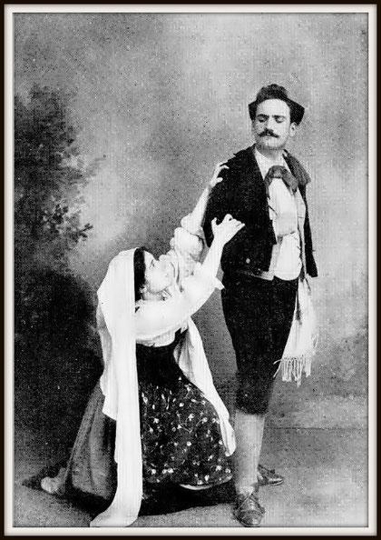 P.Mascagni CAVALLERIA RUSTICANA (Turiddu) con Enrichetta Ferrara-Moscati (Santuzza) - Caserta aprile 1895