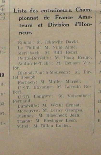en date du 14 Octobre 1949 ©Lorraine-Football