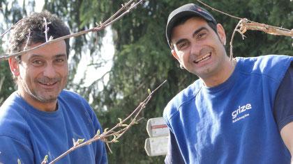 Lorenzo Del Regno mit seinem Bruder Giuseppe - Mitarbeiter der Grize Rohrleitungsbau AG
