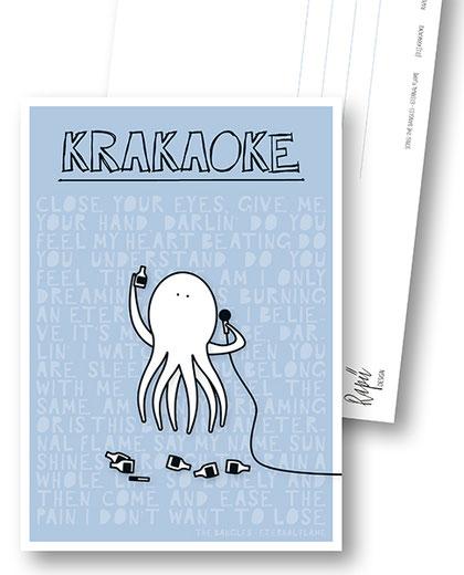 Rapü Design Postkarte Krakaoke