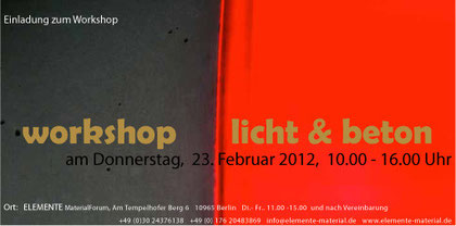 workshop Licht & Beton