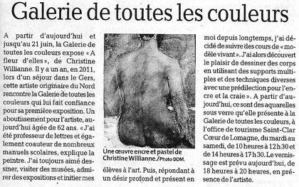 La dépêche du Midi, 26 mai 2012