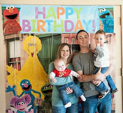 Weisz family celebrating a birthday - 2/12