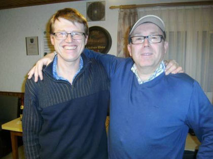 Die Turnierskat-Frischlinge: Harvey Schulze und Harald Dörr