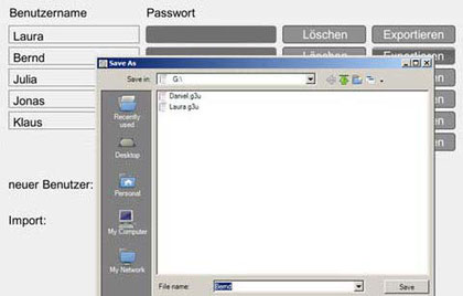 Sicherung von Schülerdaten auf einen externen Datenträger