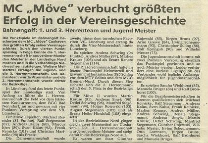 Artikel aus den Cuxhavener Nachrichten vom 06.06.1992