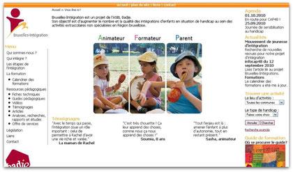 Image d'aperçu du site Internet de Bruxelles Intégration