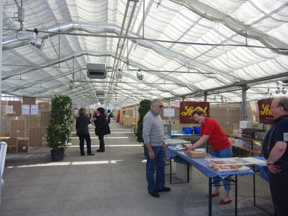 Aufbau der 1. Kunst & Kulturmesse im Glashaus