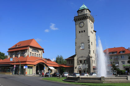 Frohnau Center - S-Bahn Station and Casino Tower
