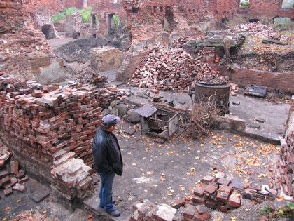 2008 г. очитска внутри замкового флигеля.