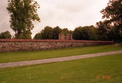 2000 г на месте дорожки проходил ров между замком и форбургом
