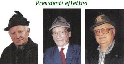 Da sinistra: Aldo Carminati (1983-1984), Augusto Beltrami (1984-1998), Aldo Marian (1998-2004)
