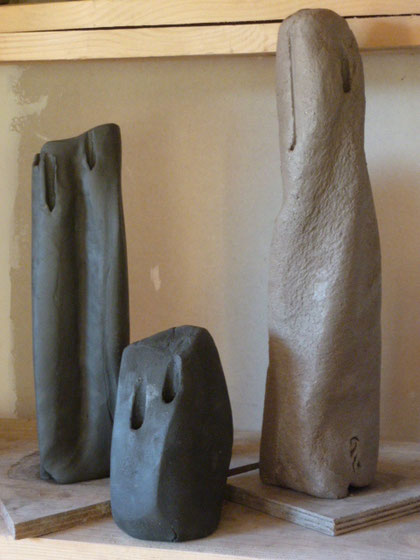 """"""" Vases monolithiques """" grès crus - Sylvie Ruiz -"""