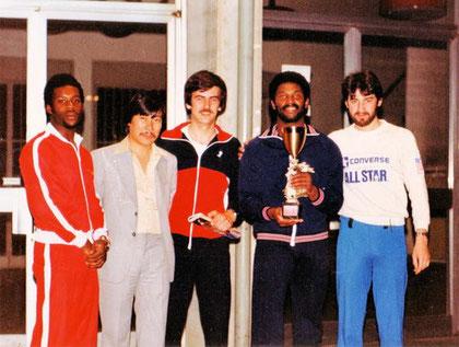 Bruno nel 1980 con la Nazionale UK del M° Jeremy Yau e Steve Babbs