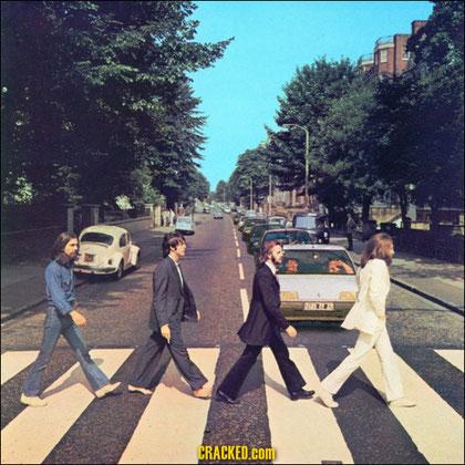 Beatles im Weg