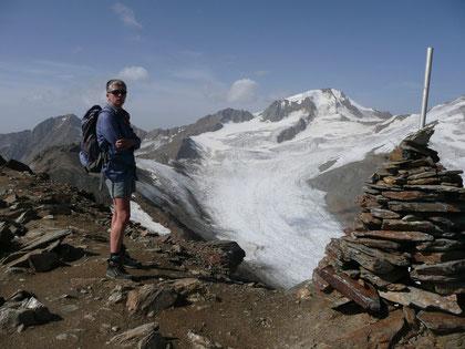 Am Hinteren Eis Gipfel mit Blick zur Weißkugel
