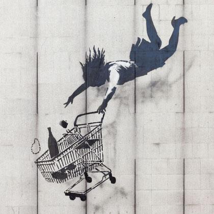 Bansky - Shop till you Drop (Einkaufen bis zum Umfallen)