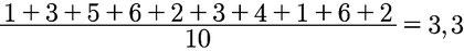 Weiteres Beispiel des arithmetischen Mittels anhand eines Würfels